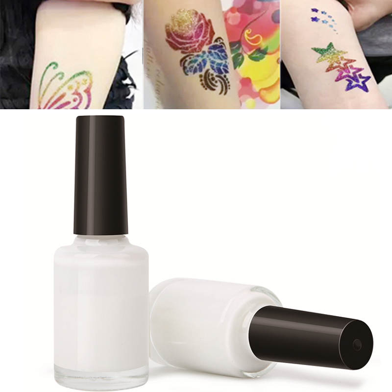 1/2/3PCS 15ml Clear One-time Colorful Glitter Powder Tattoo Glue Waterproof Flash Powder Glue Long Lasting Body Art Paint TSLM1