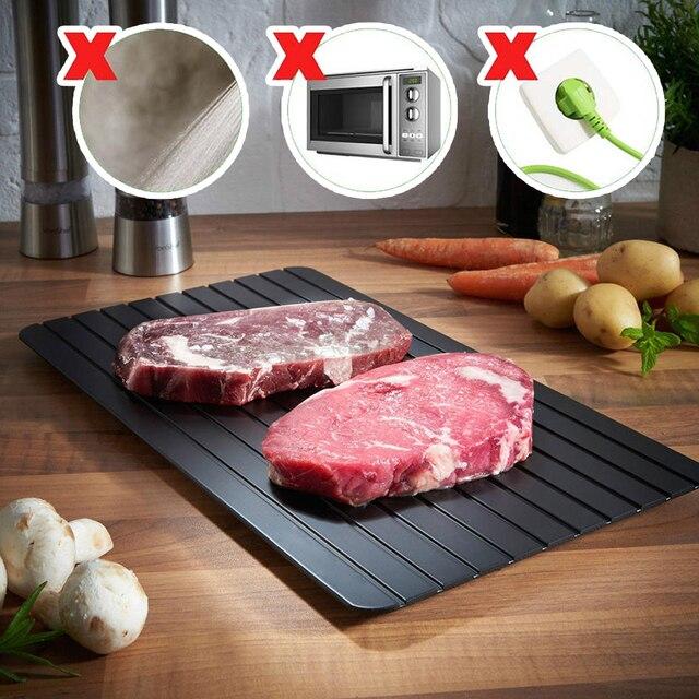 בשר מגש מהיר הפשרה קיצוץ לוח מהיר בטיחות הפשרה מגש 2 in 1 מהיר הפשרה צלחת עבור Frozens בשר מטבח כלי