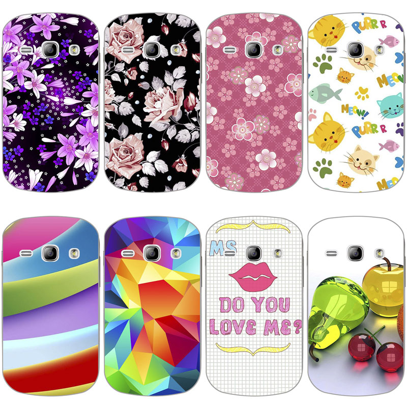 Printed Phone Case for Samsung Galaxy Fame S6810 GT-S6810 S6812 S6818 S6810P 3.5 inch Original Back Cover Shell Hard Coque Capa image