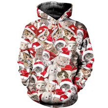 Tessffel Santa Claus Christmas MenWomen HipHop 3Dfull Printed Sweatshirts/Hoodie/shirts/Jacket Casual fit colorful funny Style16