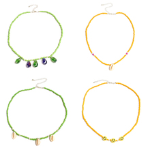4 Pcs/ Set New Creative Colorful Beads Shell Necklace Simple Handmade Clavicle Chain Choker for Women