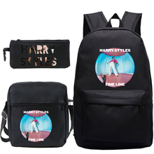 Harry Styles 3pcs / Set Backpack School Bags for Girls Boys Laptop Travel