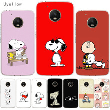 Uyellow Cute Cartoon Snoopys Soft Cover For Motorola G4 G5 G5S G6 G7 E4 E5 Plus Play Phone Case Moto Power Silicone Coque