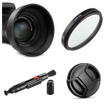 limitX UV Filter + Lens Hood + Lens Cap + Cleaning Pen for Nikon CoolPix P950 P900 P900s Kodak PIXPRO AZ901 Digital Camera