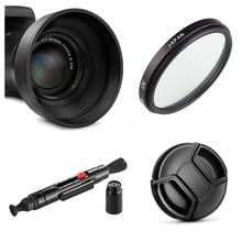 УФ фильтр limitX + бленда + крышка объектива + ручка для очистки для цифровой камеры Nikon CoolPix P950 P900 P900s Kodak PIXPRO AZ901
