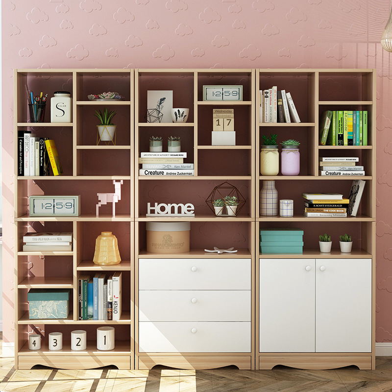 Bookcase Bookshelf Floor Simple Table Modern Simplicity Bedroom Storage Shelf Creative Students Free Combination Small Bookcase