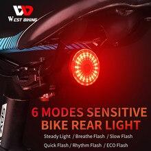 Smart Bremse Sensing Fahrrad Rücklicht Auto Start/Stop Taschenlampe Wasserdichte LED USB Aufladbare Fahrrad Sattel Sattelstütze Rücklicht