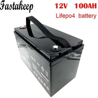 Free shipping 12v 100ah deep cycle UPS li ion lifepo4 battery pack for solar system 12V Lifepo4 Electric Bicycle Battery