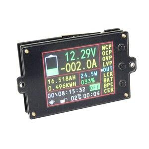 Цифровой вольтметр Амперметр термометр ваттметр кулоновый измеритель энергии свинцово-кислотный литиевый индикатор емкости батареи 2,4 дю...