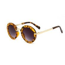 2020 модные круглые детские солнцезащитные очки анти УФ Винтажные