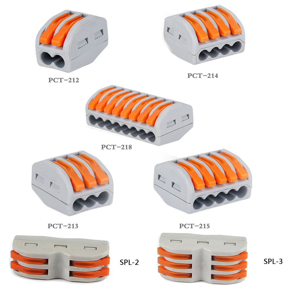 5pcs 2pin 3pin 4pin 5pin 8pin led strip light Connector Conductor Terminal Block led downlight connector Universal Compact Wire