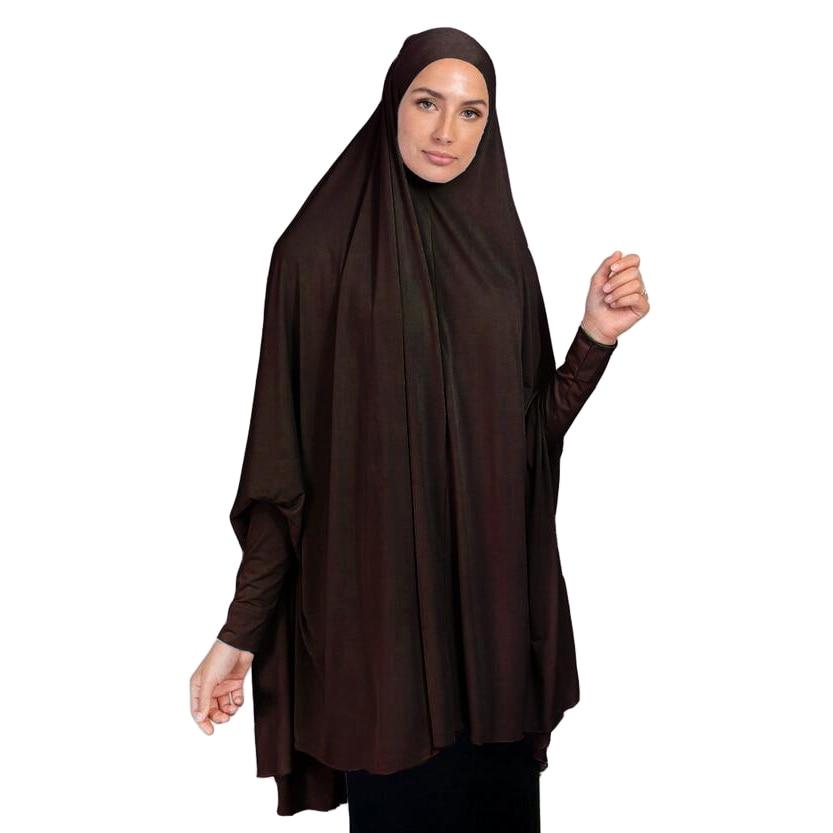 Khimar Burqa Long Hijab Scarf Muslim Women Large Amira Overhead Prayer Clothes Islamic Long Sleeve Niqab Jilbab Abaya Arab Tops