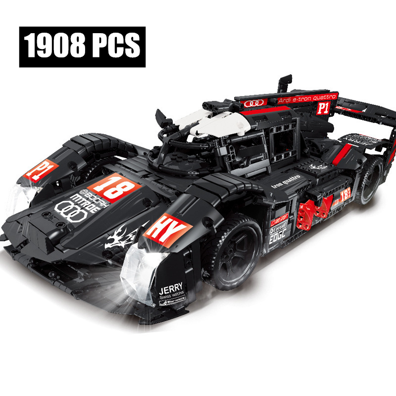 IN STOCK R18 equation super car MOC technology 919 Le Mans remote control racing car assembly building block toy gifts 23011