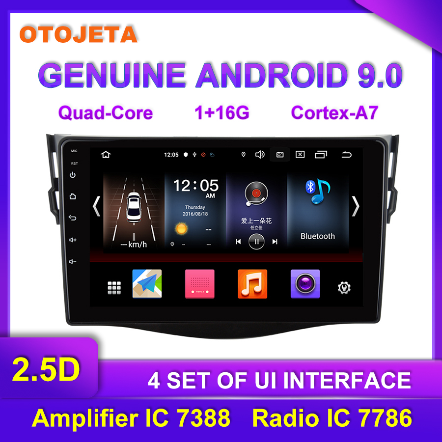 Factory direct sales OTOJETA Android 9.0 <font><b>Car</b></font> <font><b>Multimedia</b></font> Radio For <font><b>Toyota</b></font> <font><b>rav4</b></font> 2010 9inch <font><b>Car</b></font> Video tape recorder GPS Navigation image