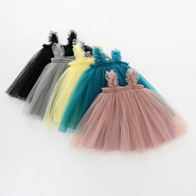 Vestido de bebé niña de manga larga de 1 año, vestido de tutú de cumpleaños para niña de encaje, ropa infantil de fiesta de princesa, 2020