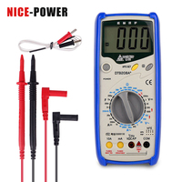 ESR Meter Professional Digital Multimeter Temperature 2nF ~ 200\u03bcF Capacitor Tester DC AC Current Voltage Multimeters Data HOLD