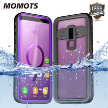 MOMOTS IP68 Waterproof Shockproof Case for Samsung S10 S9 S20 Plus Swimming Diving Case for Samsung Note 10 Plus Note 9 8 Cover