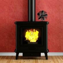 Вентилятор для печи, работающий от тепловой энергии деревянная бревна горелка для камина 5 лопастей ветровой вентилятор Алюминиевый
