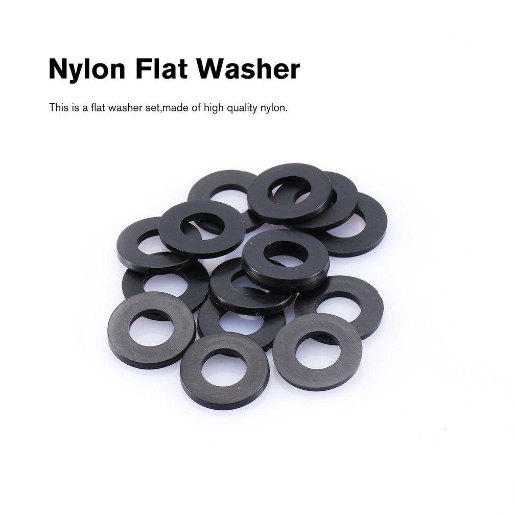 500PCS M2 M2.5 M3 M4 M5 M6 Black Nylon Flat Plain Washer Flat Ring Gasket