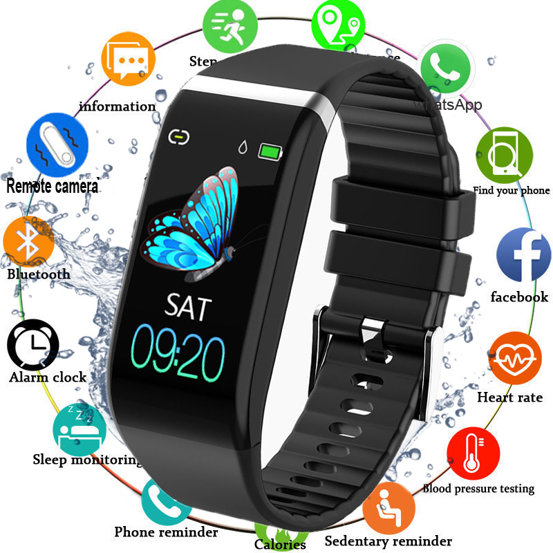 New Upgrade Sport Smart Fitness Bracelet Blood Pressure Heart Rate Pedometer Ip67 Waterproof Smart Band Watch For Android IOS