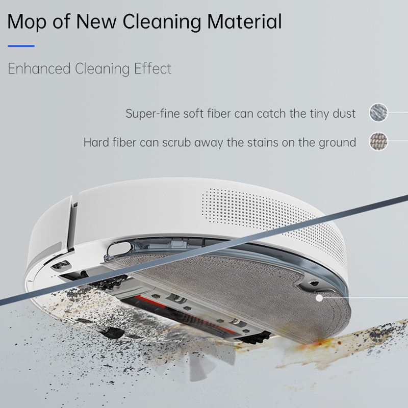 TROUVER Finder vacuum cleaner sweep robot wet mopping disinfection LDS laser navigation mijia mi home control APP virtual wall 2