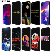 IYICAO Juice WRLD Soft Black Silicone Case for iPhone 11 Pro Xr Xs Max X or 10 8 7 6 6S Plus 5 5S SE iyicao riverdale soft black silicone case for iphone 11 pro xr xs max x or 10 8 7 6 6s plus 5 5s se