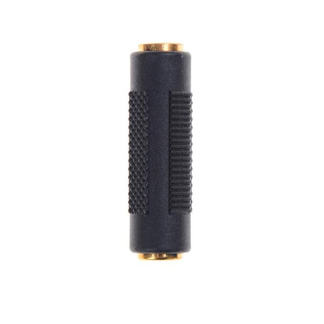 ZLinKJ plaqué or 3.5mm femelle à 3.5mm femelle Jack adaptateur coupleur stéréo