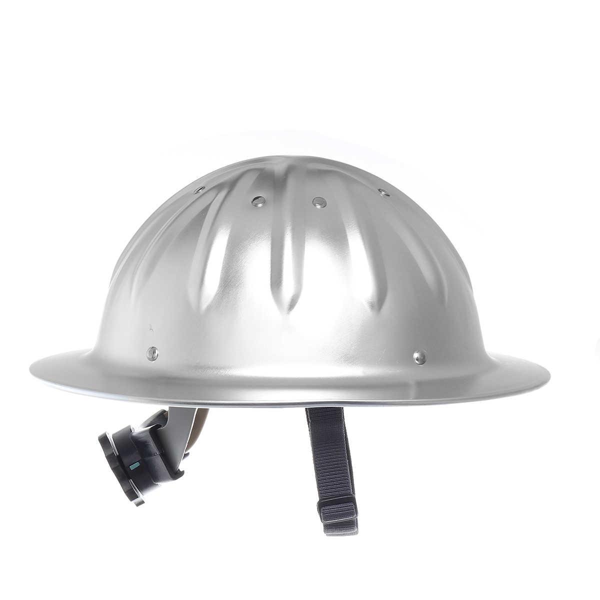Alluminio Ad Alta Resistenza Leggero Pieno Tesa Cappello Duro Casco di Sicurezza per La Costruzione Metallurgia Ferroviaria Miniera di Costruzione Navale