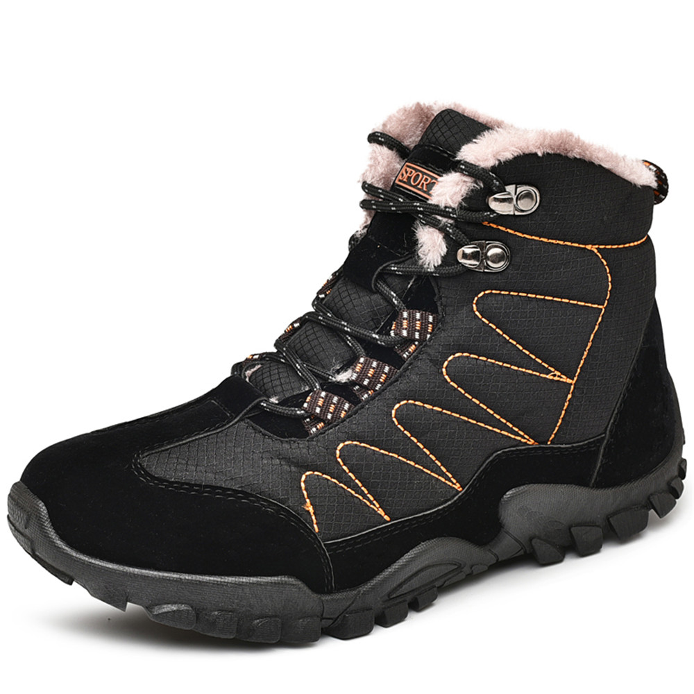 Shoes For Men Boots Slip On Warm Fur Winter Sneakers Men Snow Boots Waterproof boots image