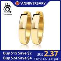 ORSA JEWELS Brand Unique Fashion Punk Rock Silver Color/Gold-Color Small Circle Hoop Earrings for Women Jewelry GTE16