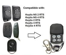 Para telis 4 rts1 soliris rts garagem remoto keytis 2 rts porta duplicador controle remoto 433.42mhz transmissor de mão