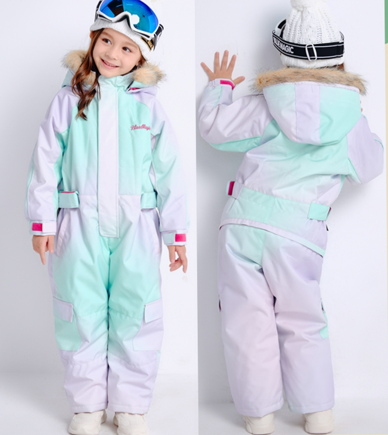 Bluemagic Kids Snow-suit  Toddler One Piece  Waterproof Warm  Jumpsuit Girls Boys Ski Suits Jacket And Pants Overall  -30degrees