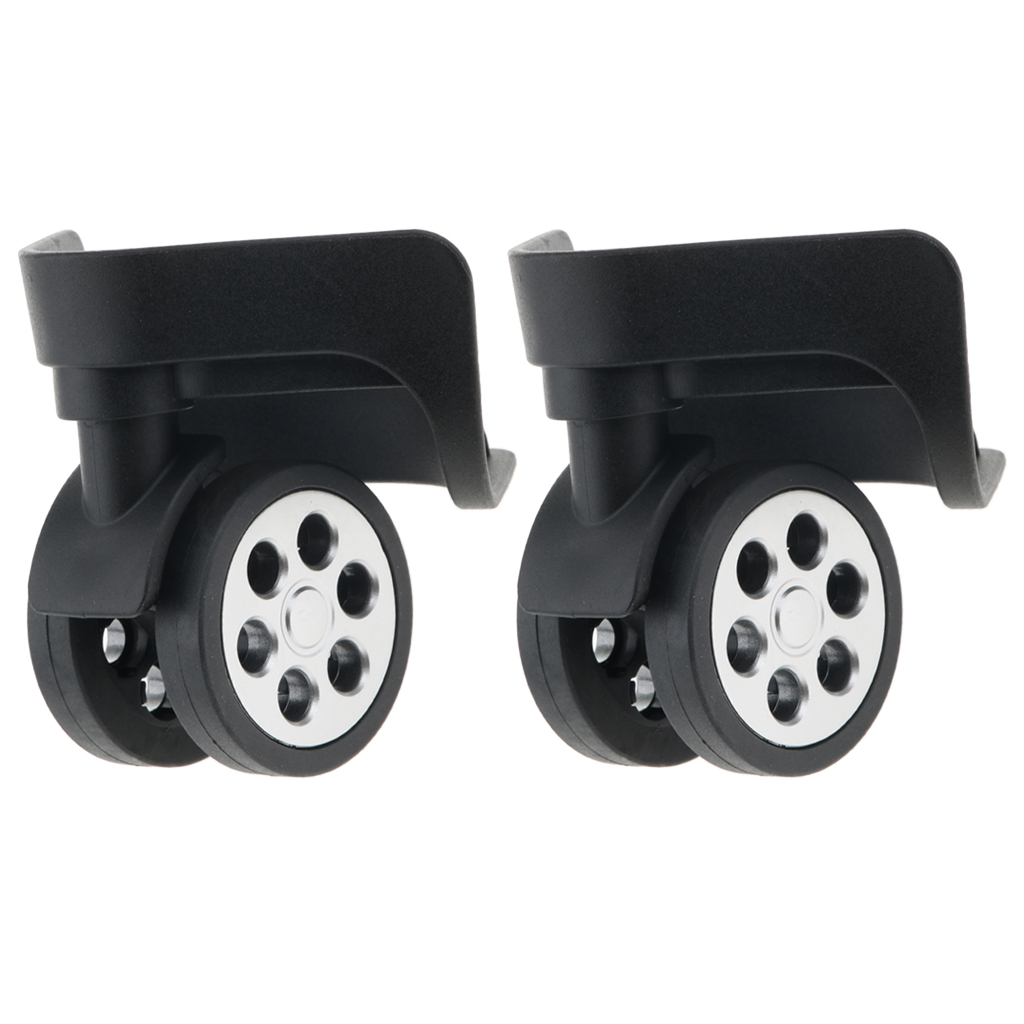 1 Pair Trunk Wheels,Luggage Wheel Spare Part Swivel Universal Casters Replacement Baggage Suitcase Wheels PVC For Luggage A85
