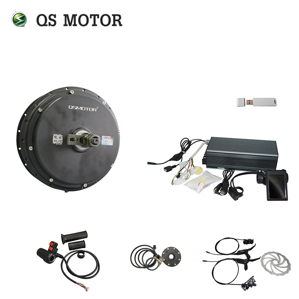 QS 205 3000w Spoke Hub Motor +TFT Color Display Speedometer And Sabvoton Controntroller 150A SVMC72150