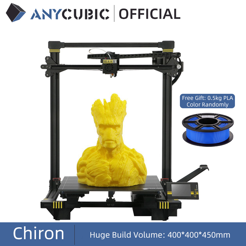 ANYCUBIC Chiron 3D Printer Large Size 400x400x450mm     Extruder Dual Z Axis FDM 3D Printers PLA Filaments 3D Printing
