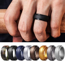 1pc Men #8217 s Ring Rubber Silicone Ring Men Rubber Wedding Bands Flexible Sports amp Outdoors Male Jewelry Sport Fashion Accessories cheap diyalo None Casual Sporty ROUND All Compatible Fitness Tracker Party Rings Silicone Sport Rings Soft comfortable Sports Outdoors Anniversary Engagement Gift Party Wedding Gift