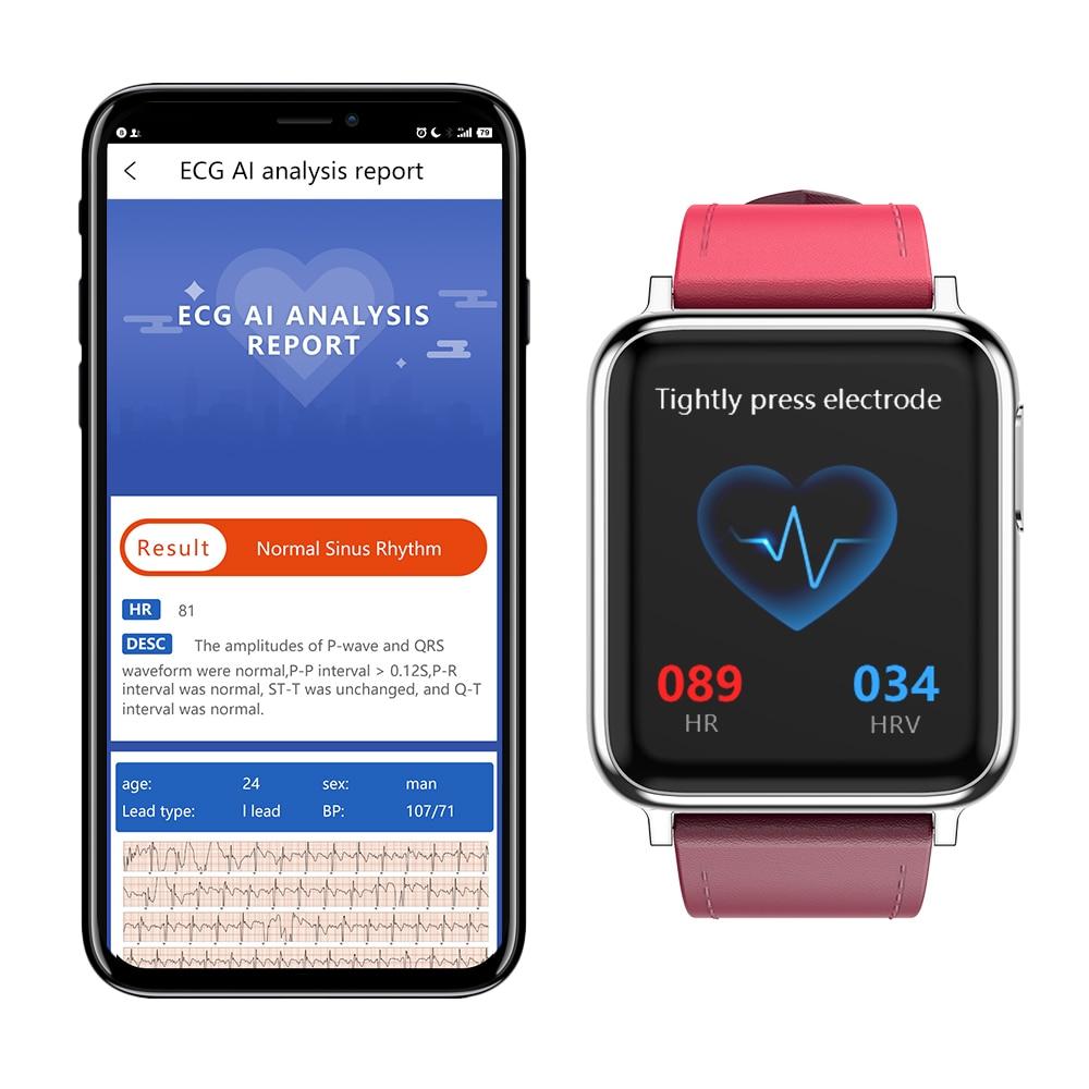 KYCXD smartwatch ekg blutdruck herz rate blut sauerstoff überwachung sport armbänder wasserdichte fitness armband - 6