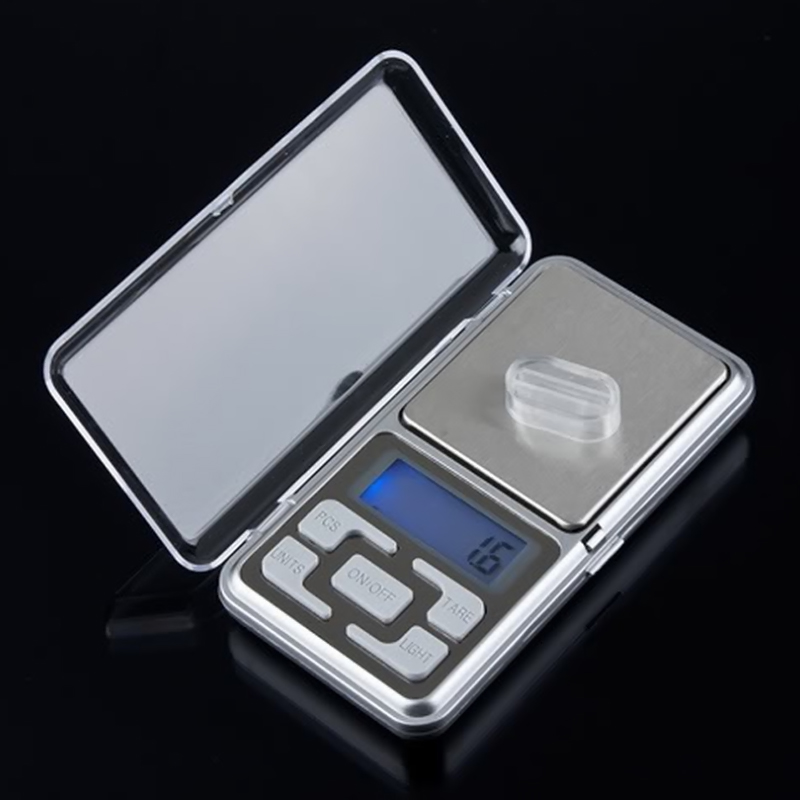 500g/0.1g Portable Mini Stainless Steel Digital Scales High Accuracy Backlight Electric Pocket Scales For Jewelry Gram Weight