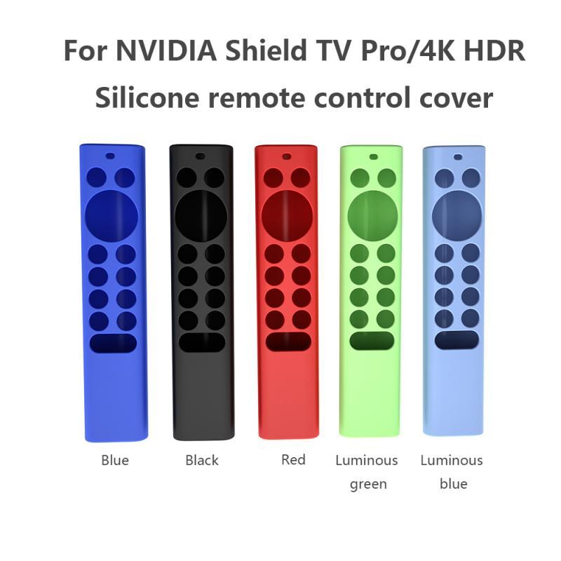 Casa controle remoto caso capa para nvidia escudo tv pro/4k hdr silicone anti-queda anti-derrapante luminosa capa protetora