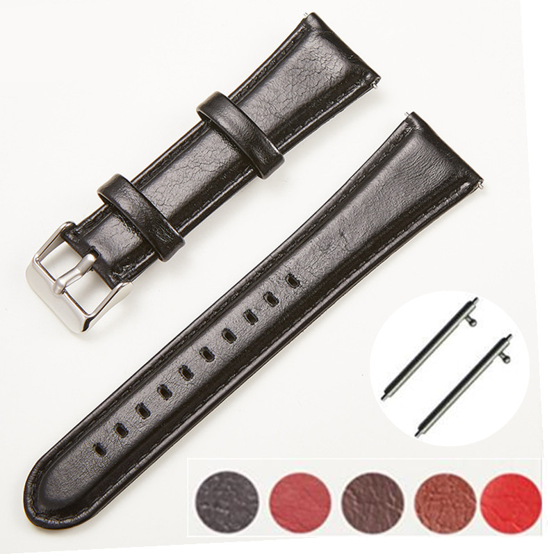 Watchbands Genuine Leather Quick Release WatchBand Stainless Steel Buckle Clasp watch band leather strap 18 20 22 24mm + Tool