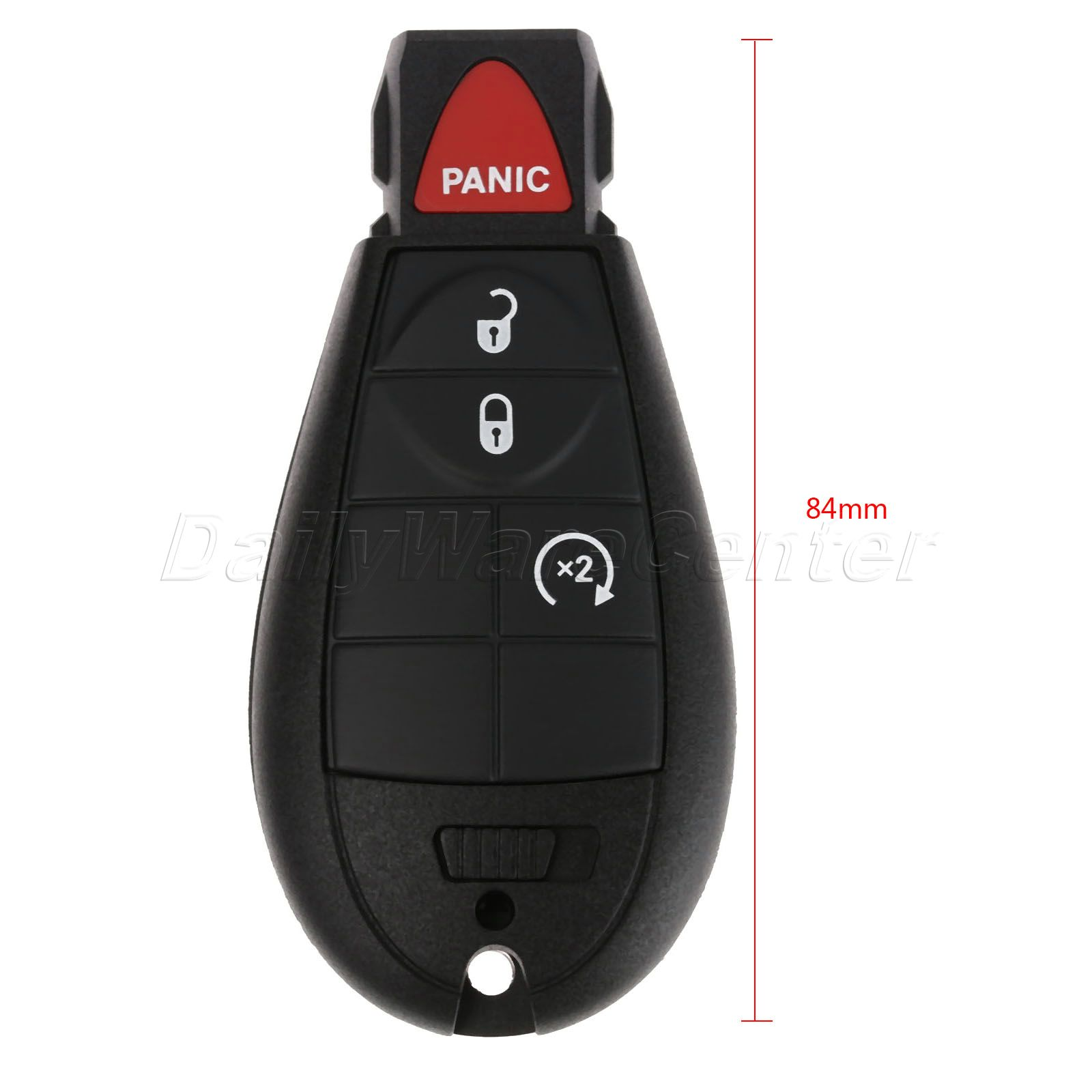 1x New Replacement Keyless Entry Remote Key Fob For Chrysler and Jeep Shell Case