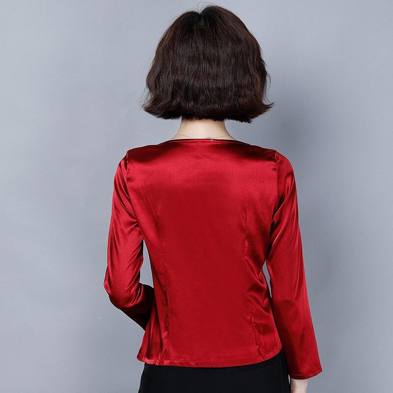 Korean Fashion Silk Women Blouses Satin Autumn White Women Shirts Plus Size XXXL Womens Tops and Blusas Femininas Elegante