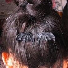 Шпилька для волос в виде крыльев вампира дьявола летучей мыши