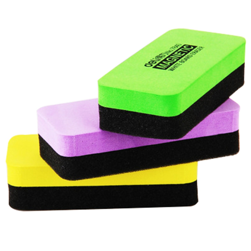 11x5x2.2cm Whiteboard Blackboard Cleaner Dry Wipe Marker Erasers Drawing Draft Foam Eraser School Chalk Brush Stationery