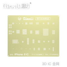 QIANLI laser 3D planting tin bead template gold network is applicable to iPhone6 6P 6S 6SP 7 7P 8 8P IC  steel net