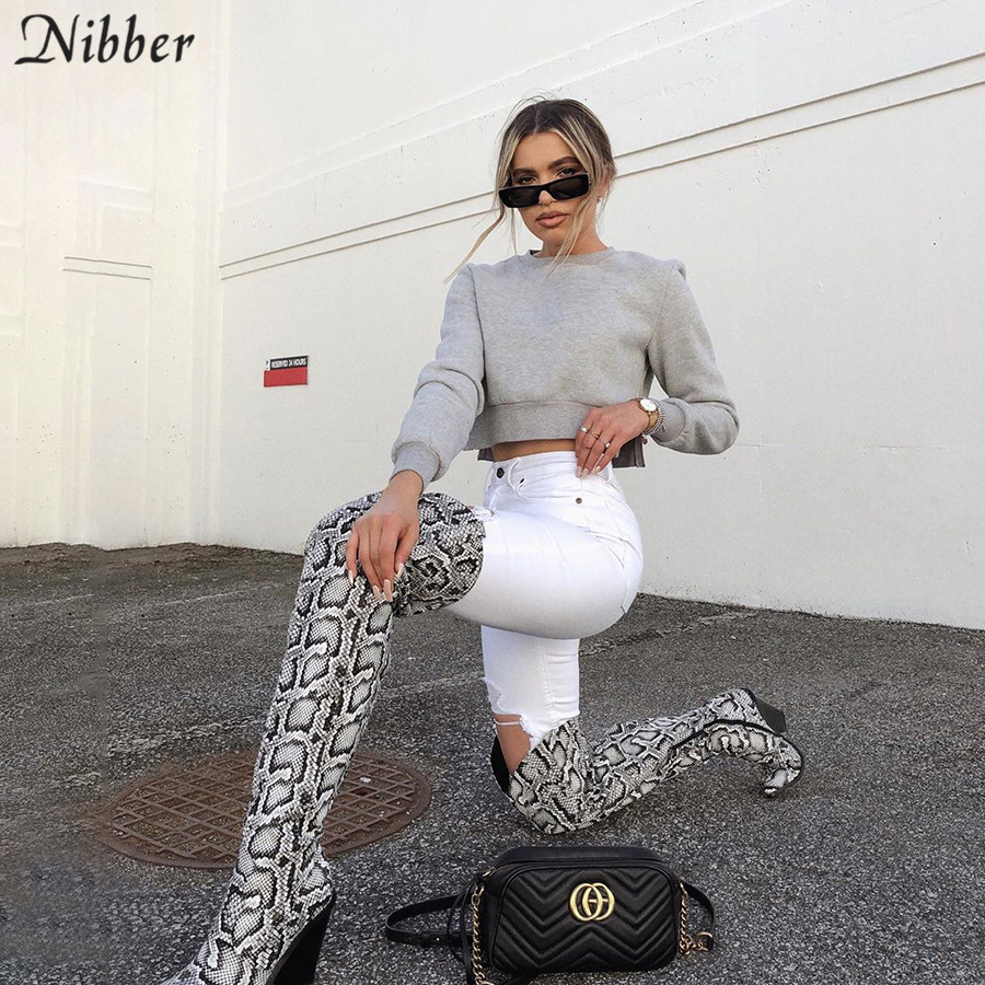 Nibber Autumn Harajuku Basic Pullover Tops Women Sweatshirt Fashion Pure Slim Soft Hoodie Mujer Street Casual Active Wear Tops