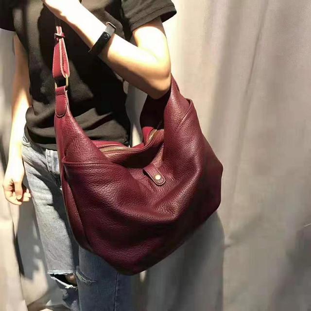 Femme sacs à bandoulière en peau de vache souple mode grand fourre-tout en cuir véritable dames conception coréenne sac de messager décontracté sacs à main Feminina