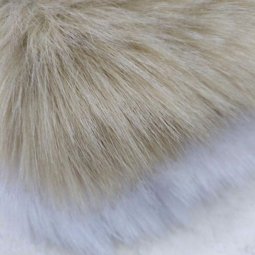 Мягкий лисий мех окрашенный кончик выцветший лисий мех плюшевая меховая ткань для игрушек
