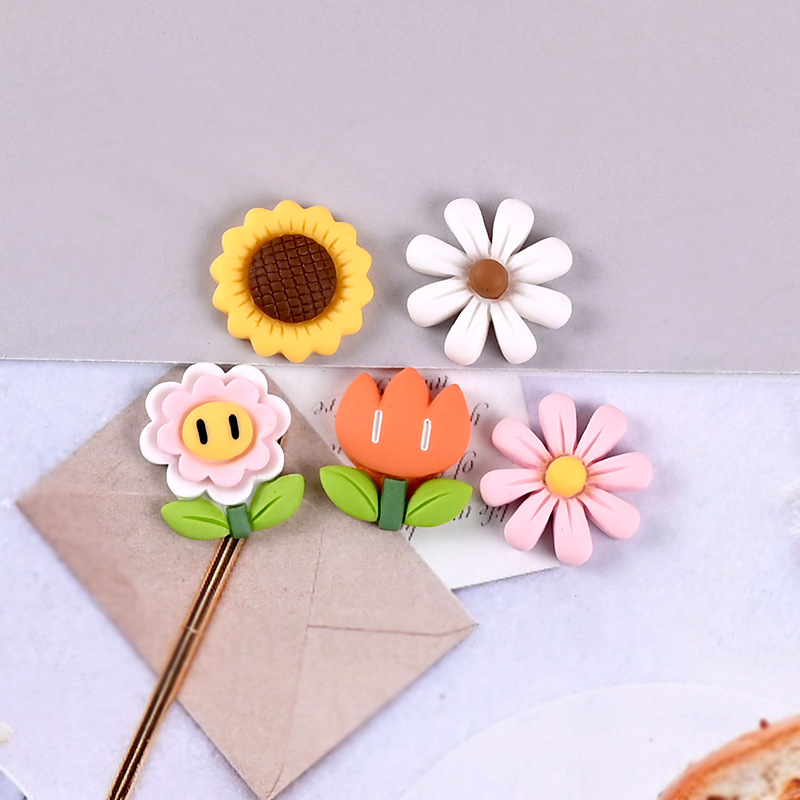 Flower series refrigerator magnet, multi-color flower refrigerator magnet, cute color matching blackboard sticker