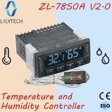 ZL 7850A ver 2.0, kuluçka, peynir veya sosis, ıslak Sauna kontrol, nem sıcaklık kontrol cihazı, Hygrostat termostat